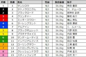 セントライト記念 2017 枠順
