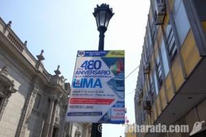 リマ建都480周年 もっと公共工事を!
