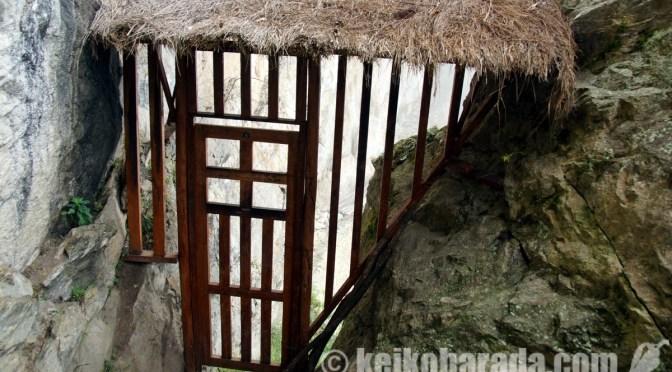マチュピチュ遺跡のインカ橋
