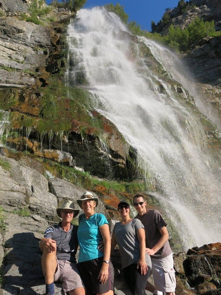 Bridal Veil Falls with Jan and Rich
