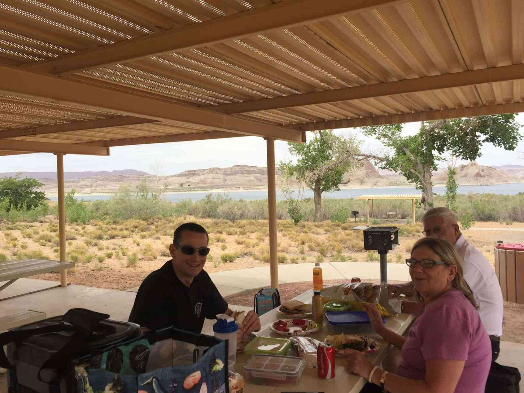 Picnic Lunch with Lake Powell View