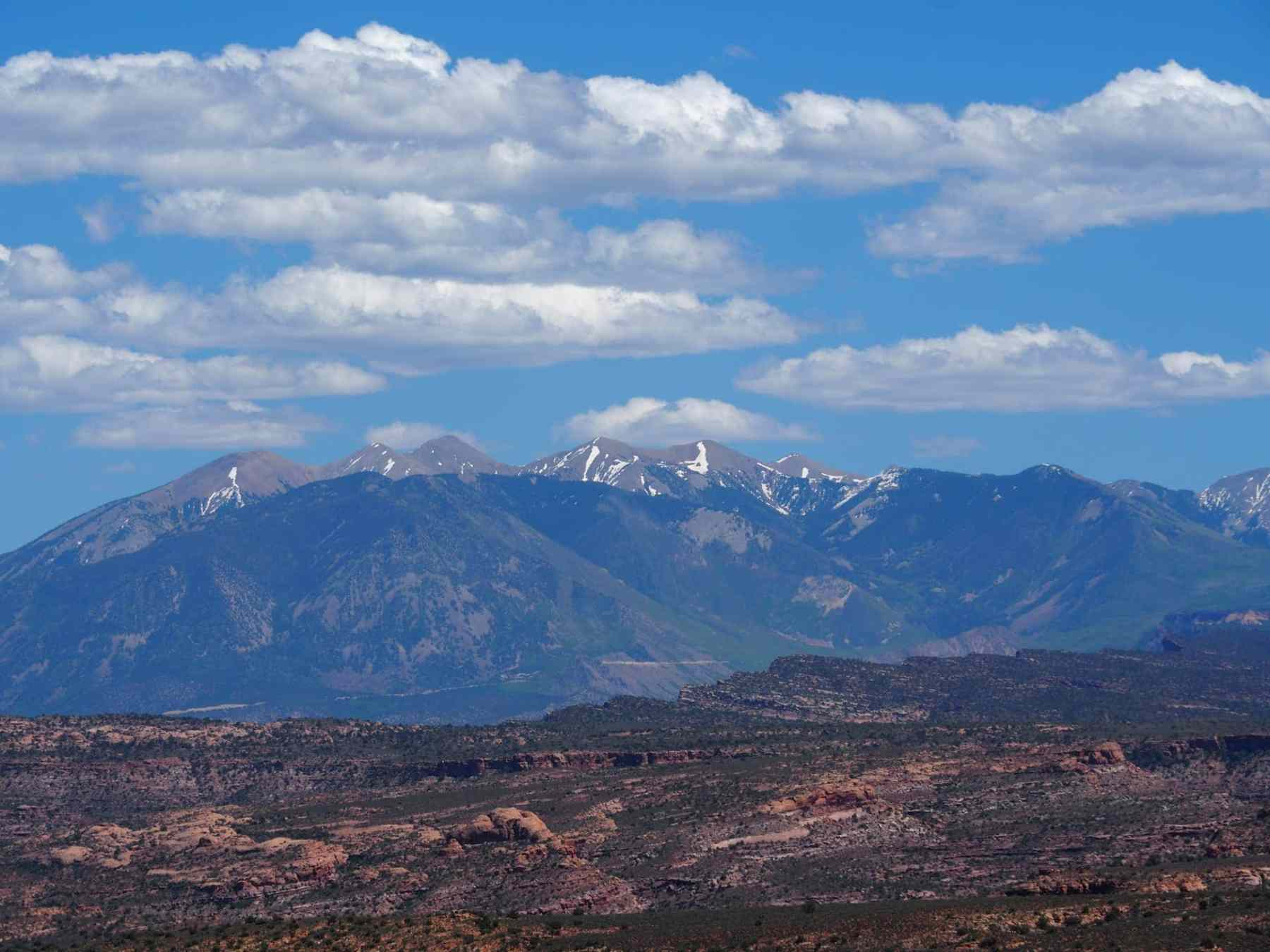 La Sal Mountains seen from Arches