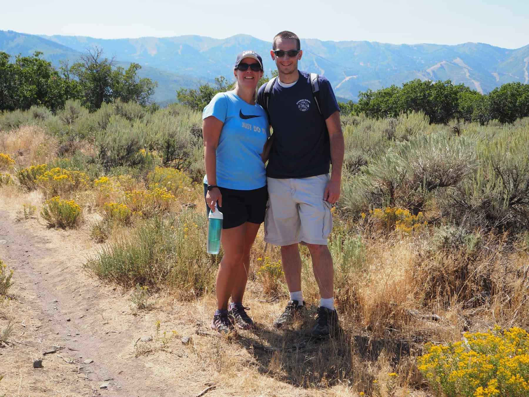 One of our very first hikes! August 2016