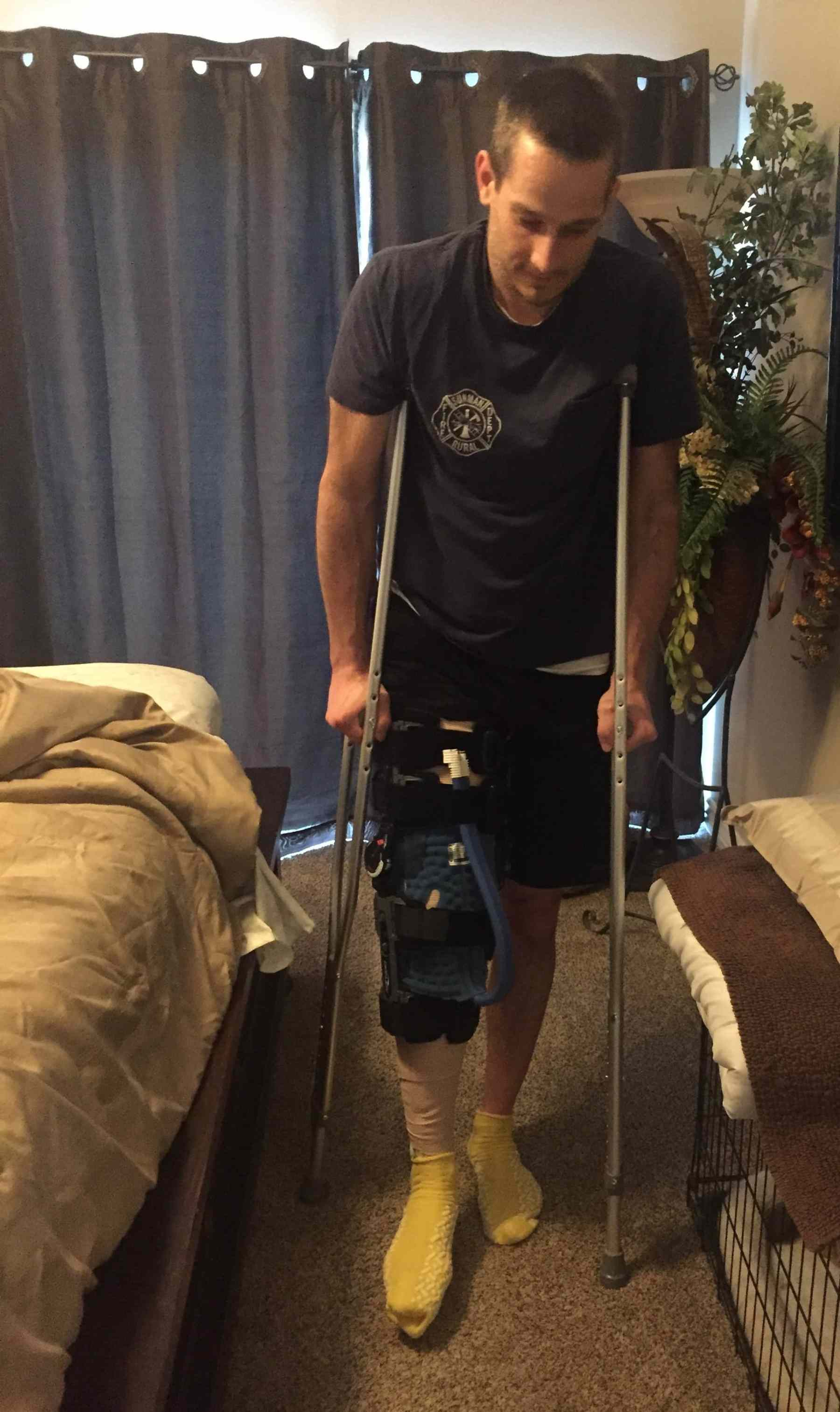 learning to use crutches