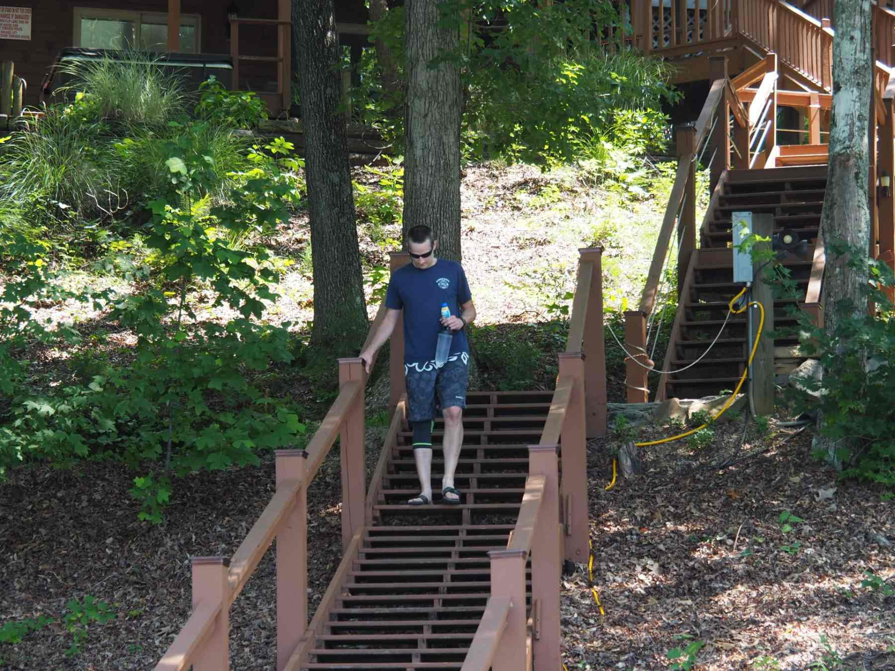 Lots of steps at the lake house