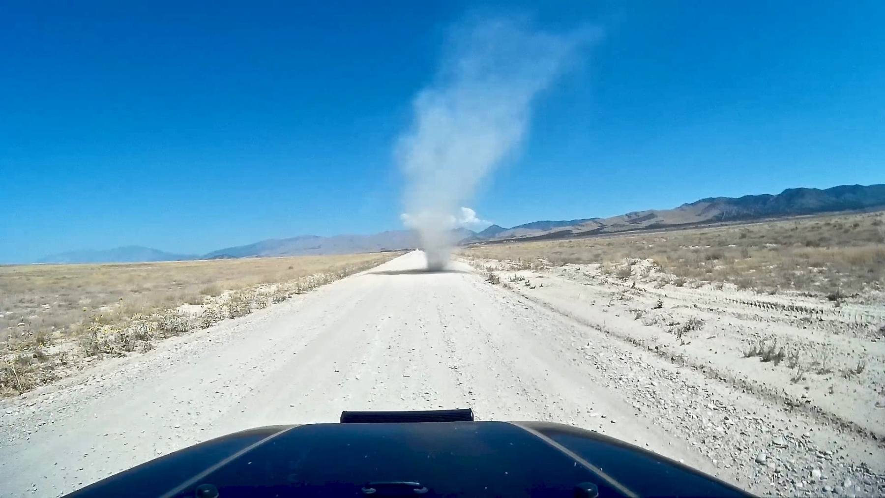 Dust Devil from the Dashcam