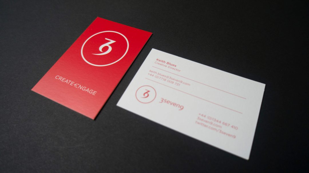3seven9 Agency Business Cards design