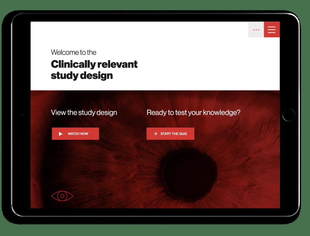 Medical training app design landing screen