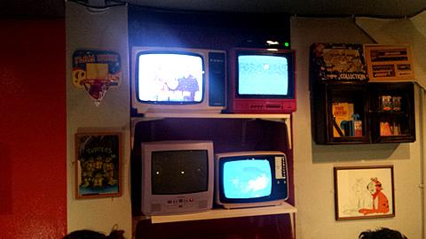 Cereal Killer Cafe TVs