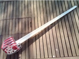 Black Fencer basket-hilted broadsword