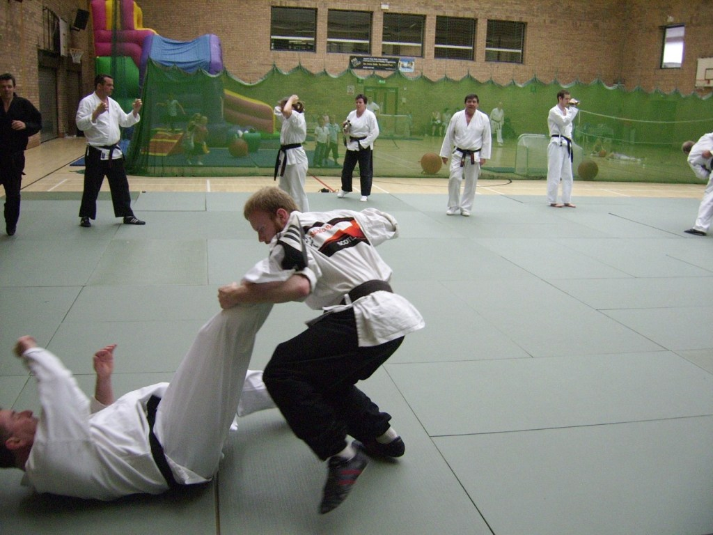 Keith practising karate in 2010.