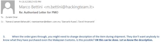 Customs-avoidind