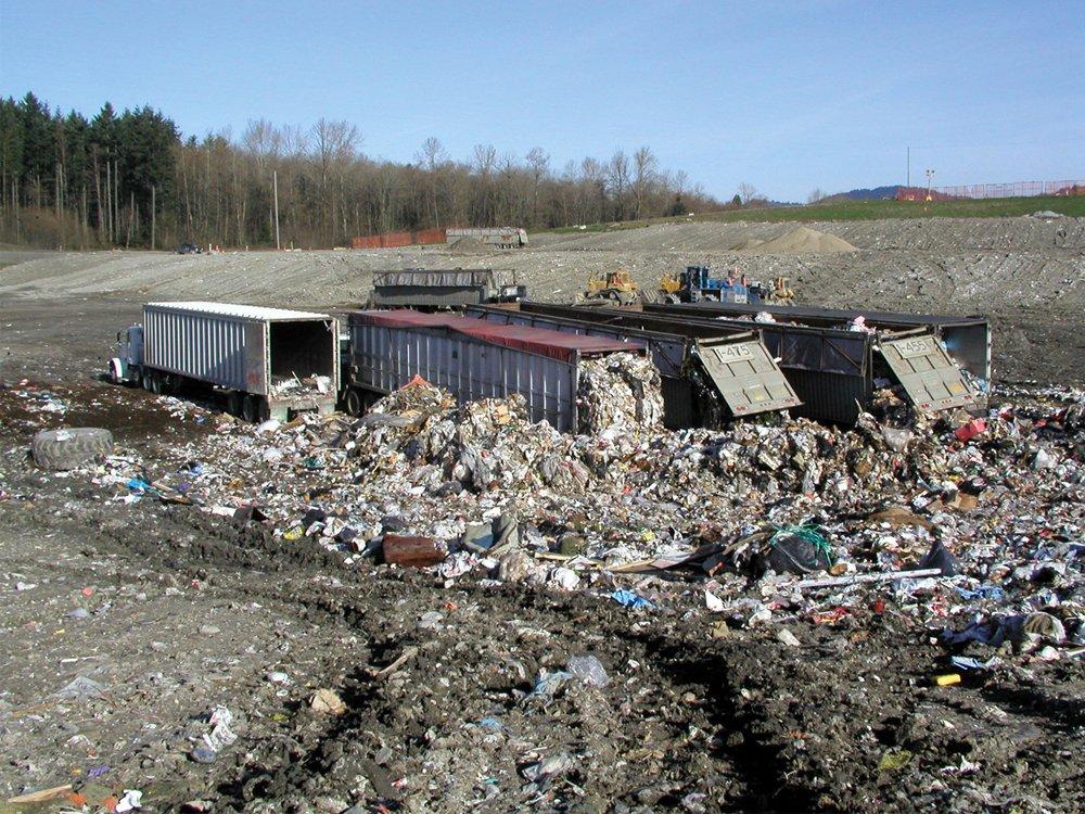 Unloading Municipal Solid Waste