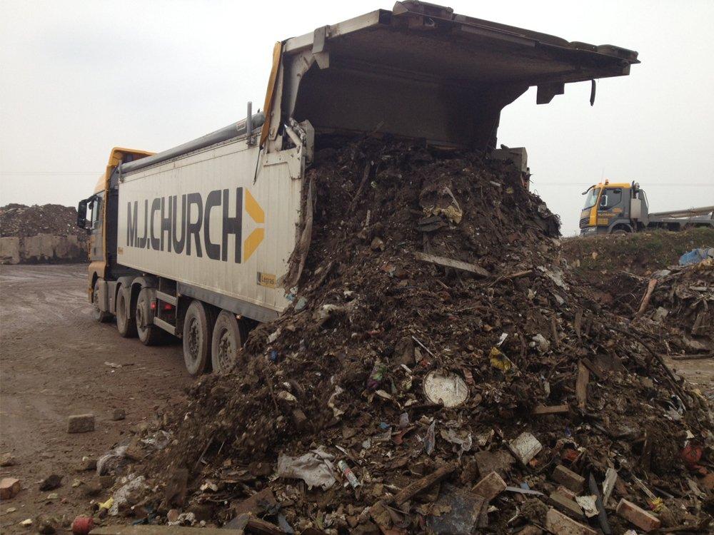 Unloading C&D Demolition