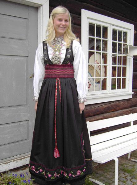 Women's costume of East Telemark, Norway