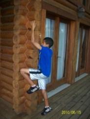 Austin climbing side of Cabin
