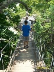 Brian and Austin on Bridge