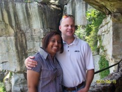 Brian and Kela at Rock City
