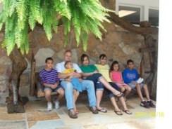 Kids and Brian at Rock City