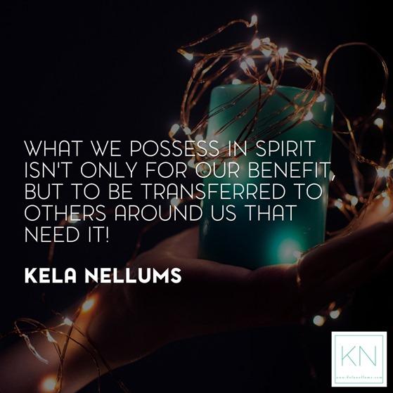 what we possess in spirit