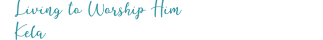 Living to Worship Him, signature 2