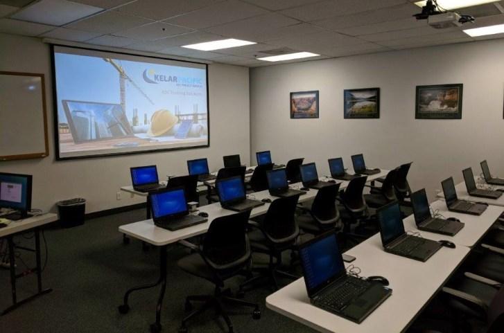 Kelar Pacific training room with full lights