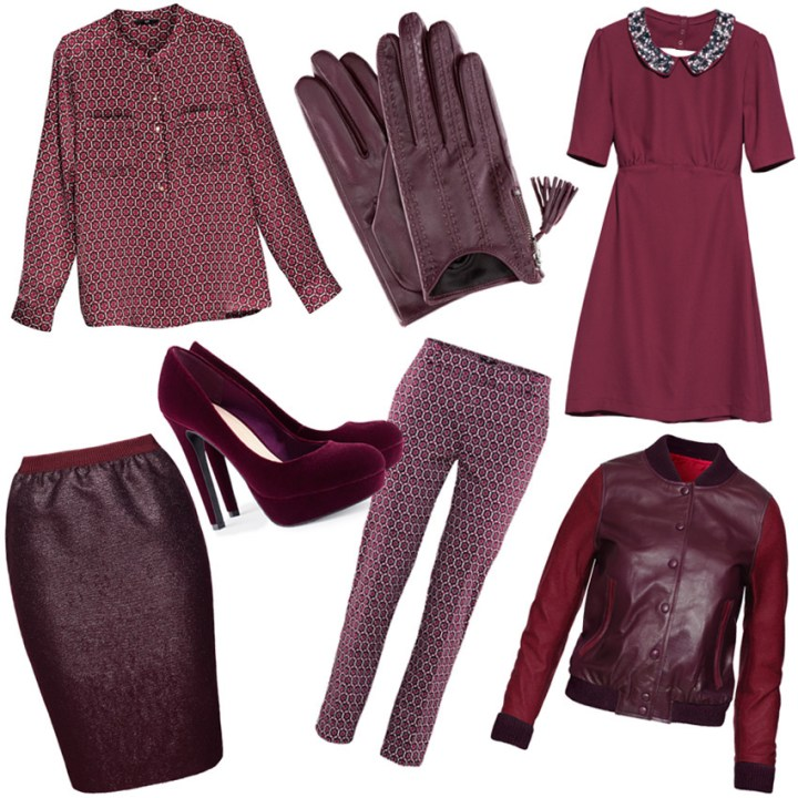 burgundy fashion trend