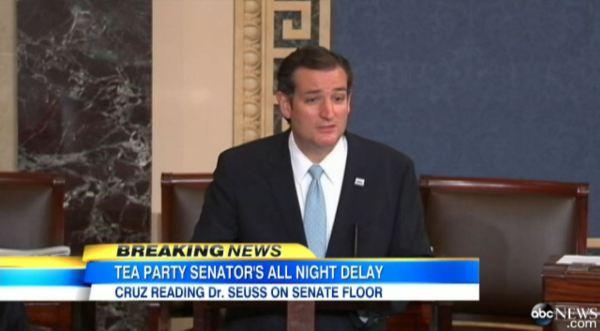 Sen. Ted Cruz Reads Dr. Seuss on the Senate Floor - ABC News