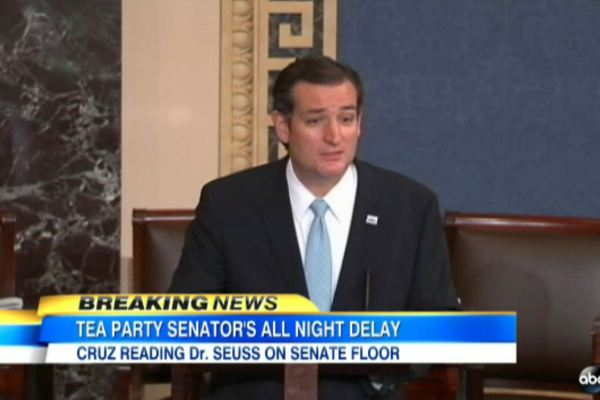 Sen. Ted Cruz Reads Dr. Seuss on the Senate Floor - ABC News