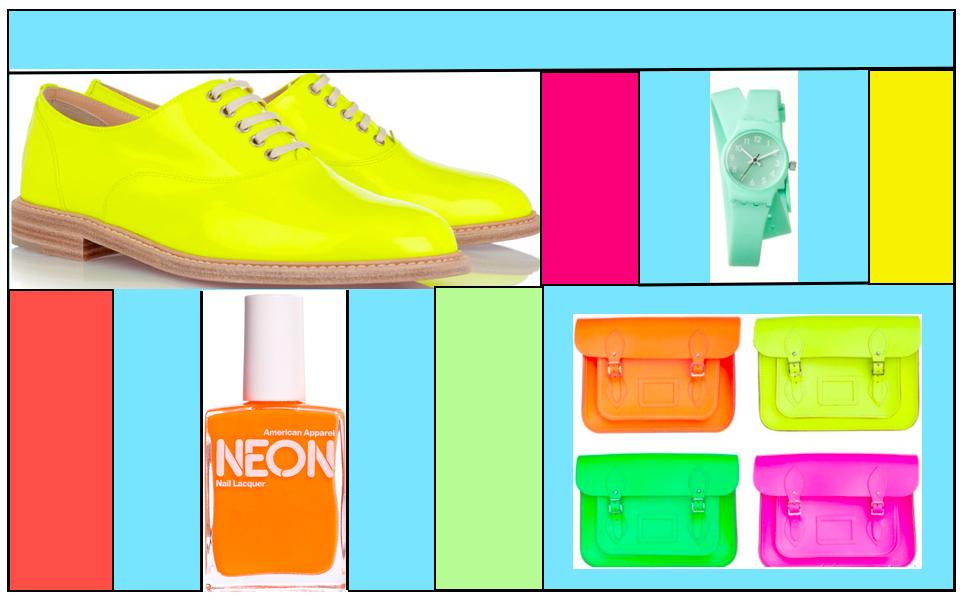 chaussure, vernis, montre et sac à main