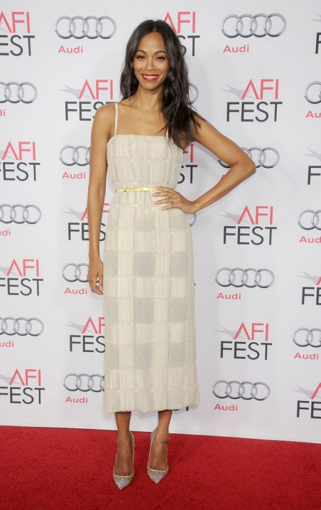 Zoe Saldana CK dress