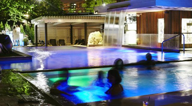 pool party at spa