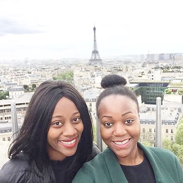 2 person at Eiffel Tower