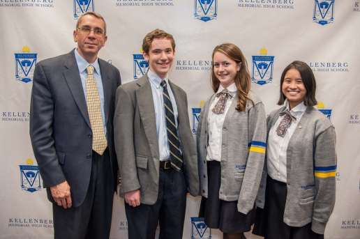 Pictured L to R: Mark Campmier, Sarah Korchak, and Kayla Fernando. Commended Students in the 2014 National Merit Scholarship Program