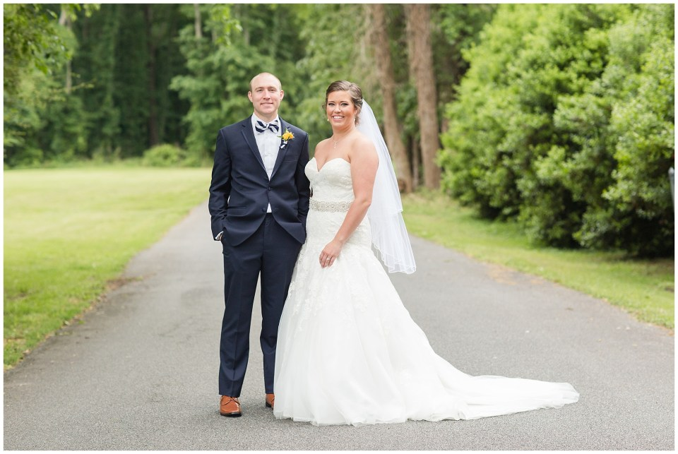 smiling bride and groom portrait