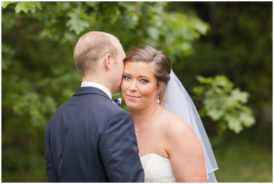 bride looking at camera portrait