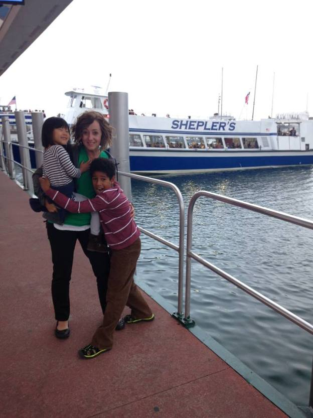 kids-and-mom-at-boat-dock