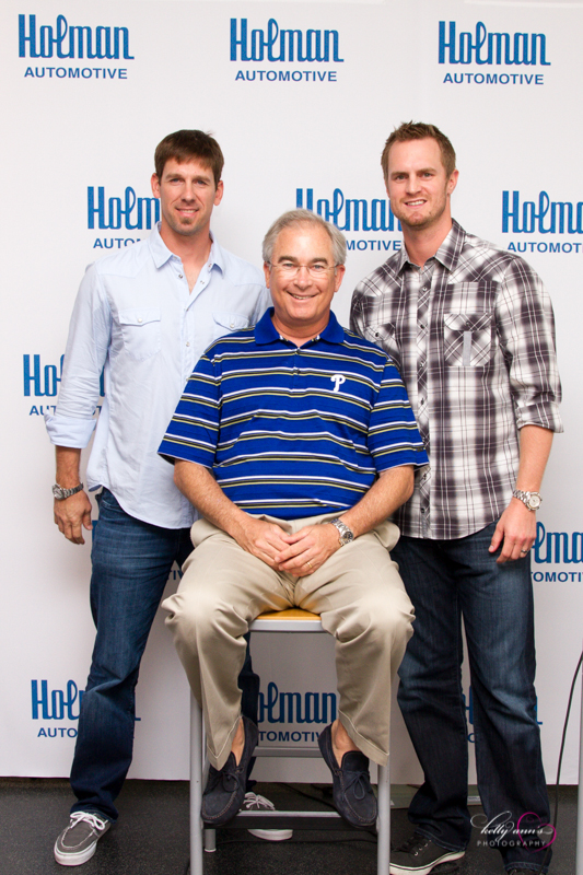 Cliff Lee, Kyle Kendrick, and Michael Barkann for a special event I was hired to photograph at Holman BMW.