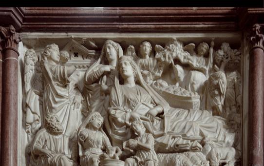 Nicola Pisano - Nativity Panel in the Baptistry in Pisa.