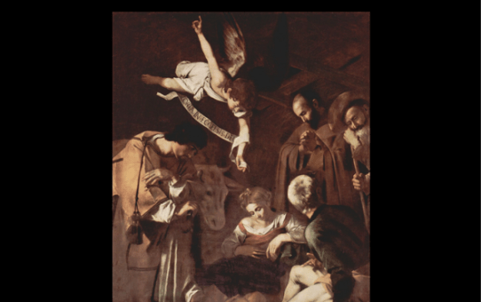Caravaggio's Nativity with St. Francis and St. Lawrence