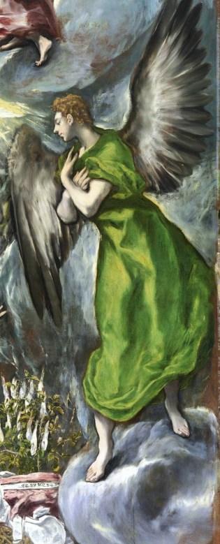 Detail of the El Greco Annunciation