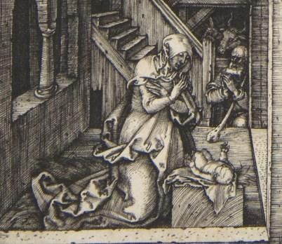 Detail of Albrecht Durer's nativity