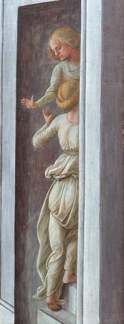 Detail of Lippi's Annunciation with Two Donors