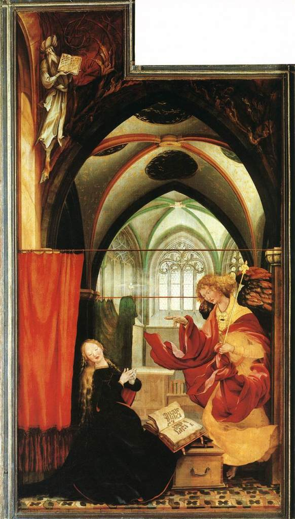Annunciation Panel Isenheim Altarpiece