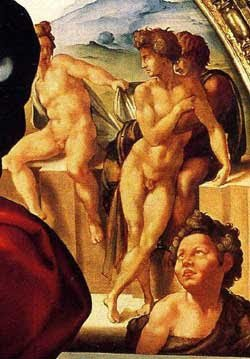 Detail of Michelangelo's Dono Tondo