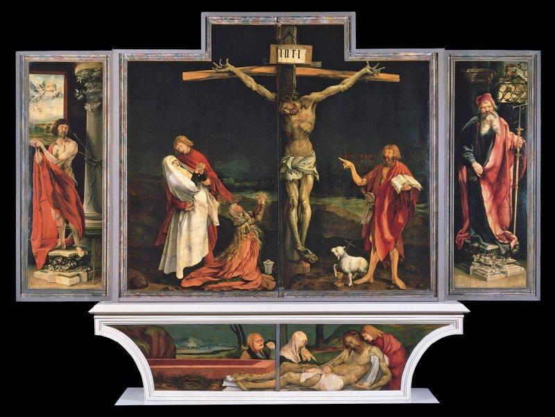 The Isenheim Altarpiece, Crucifixion panel by Grunewald