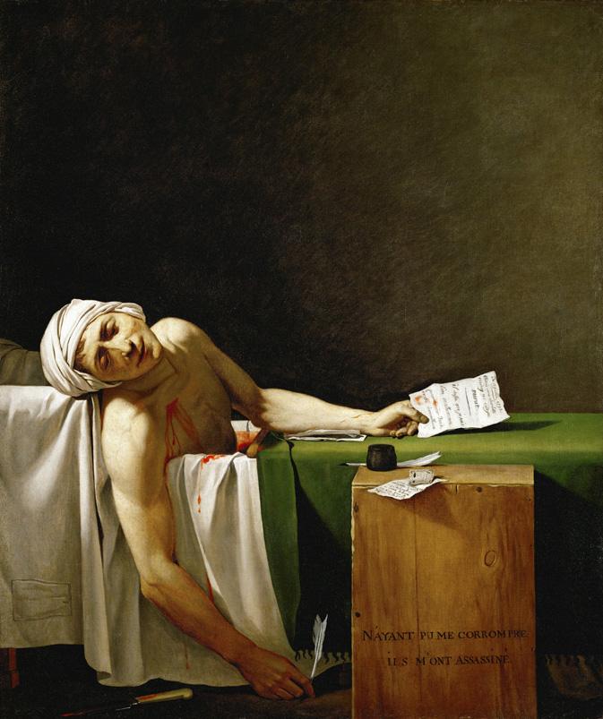 Jacques Louis David's Death of Marat