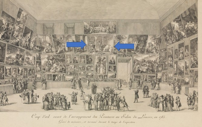 Salon of 1785 where David's Oath of the Horatii was displayed