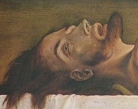 Detail from Holbein's The Body of the Dead Christ