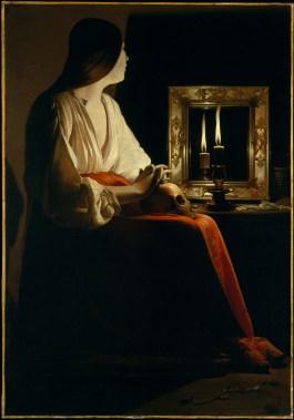 De La Tour's Magdalene with mirror